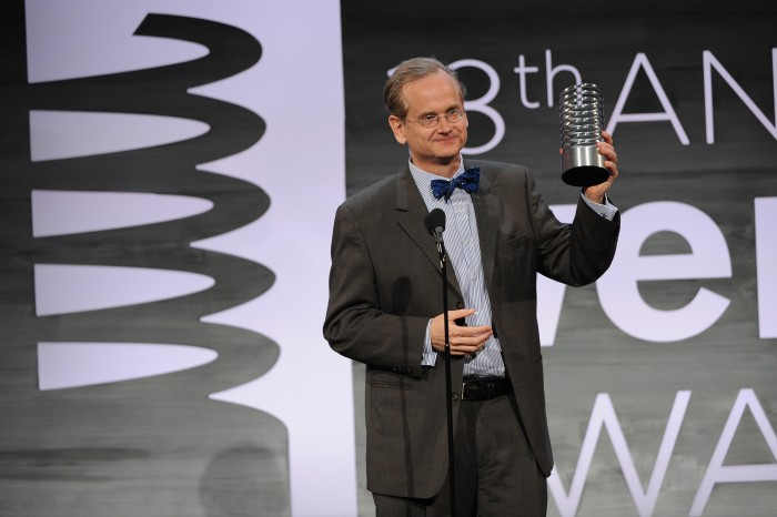 Lessig Accepts his Webby Award